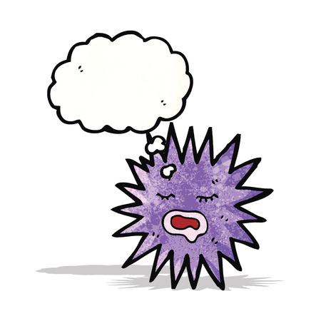 bubble sea anemone: sea urchin cartoon