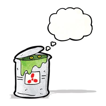 toxic waste: toxic waste cartoon Illustration