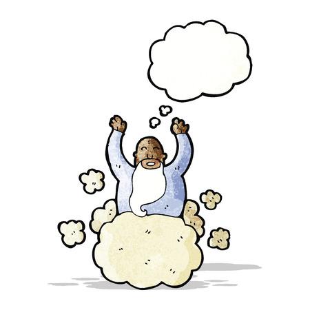 god on cloud cartoon Vector