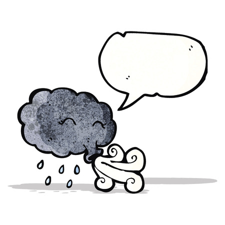 gale: rain cloud blowing gale with speech bubble