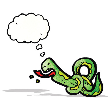 knotted: knotted snake cartoon