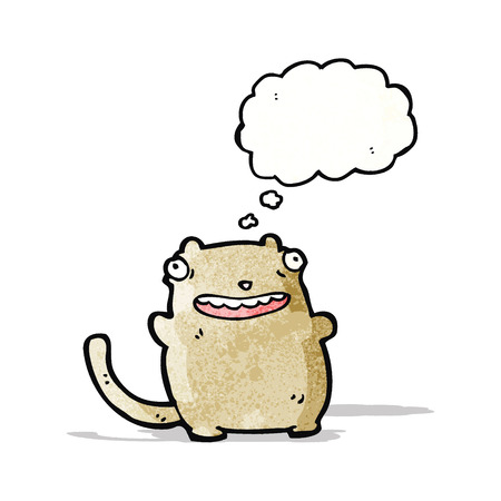 though: funny cat with thought bubble