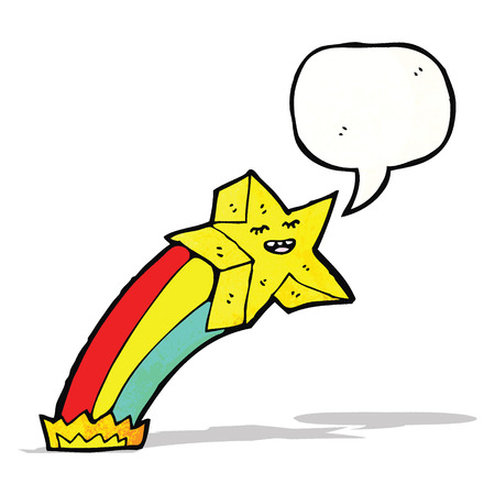 estrella caricatura: estrella de dibujos animados con el bocadillo