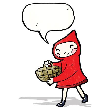 little red riding hood: poco cappuccio di guida rosso cartone animato