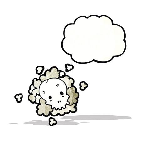 calavera caricatura: de dibujos animados cr�neo nube
