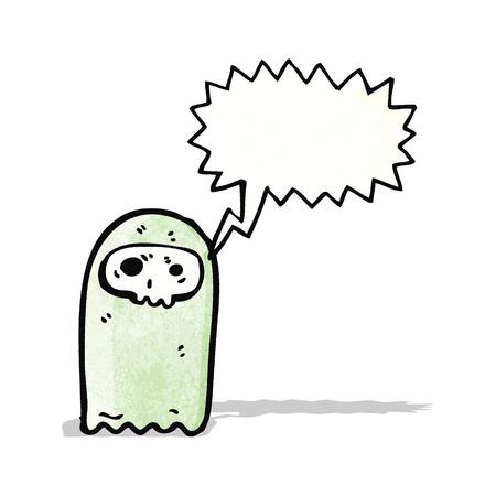 shrieking: shrieking ghost cartoon Illustration