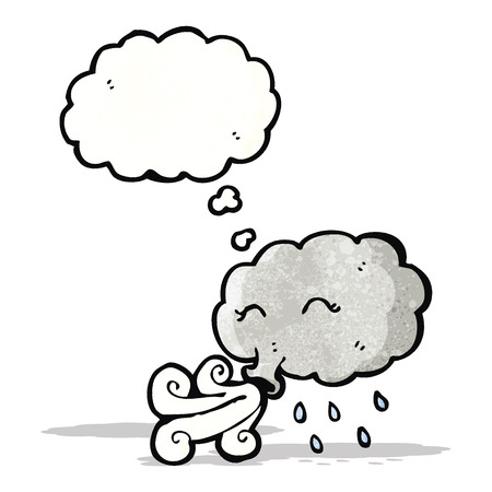 stormcloud: cartoon stormcloud blowing