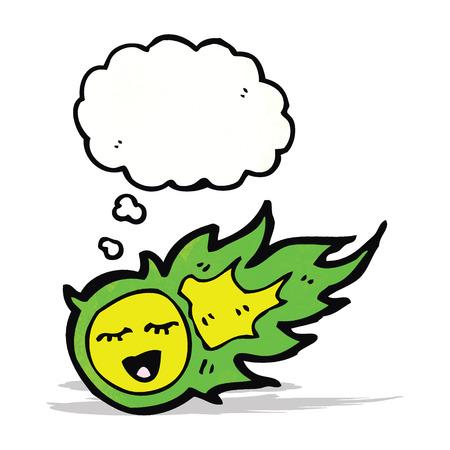 fireball: green fireball ghost cartoon