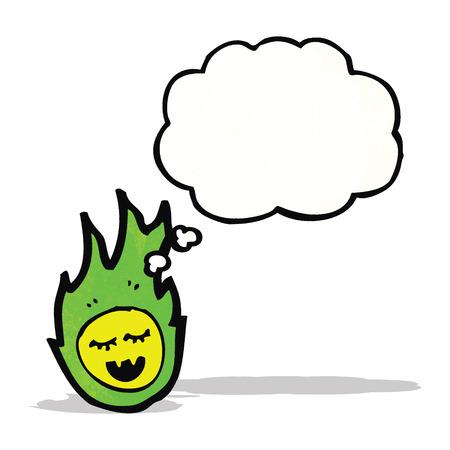 palla di fuoco: bolide verde fantasma dei cartoni animati