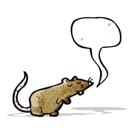 squeaking cartoon mouse Vector