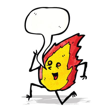 comic figur: Lauf Flamme Zeichentrickfigur