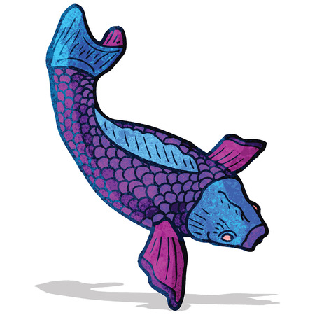 koi carp tattoo illustration Vector