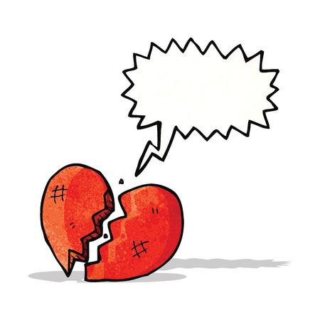 breaking: breaking heart cartoon Illustration