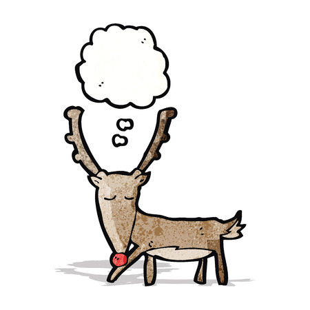 though: cartoon reindeer