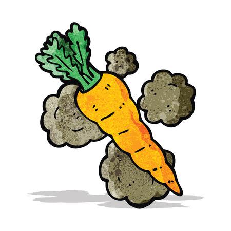home grown: cartoon organic carrot