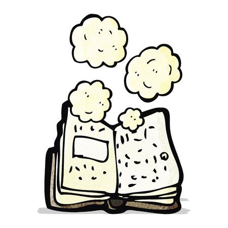 stoffig oud boek cartoon