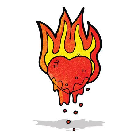 flaming heart: flaming heart cartoon