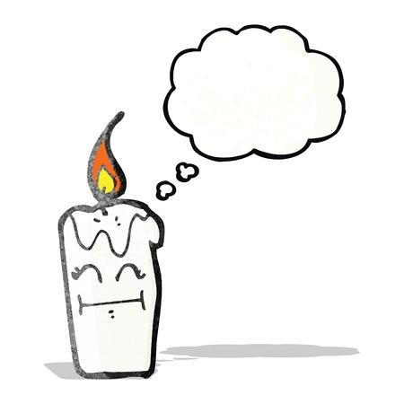 comic figur: Kerze Zeichentrickfigur