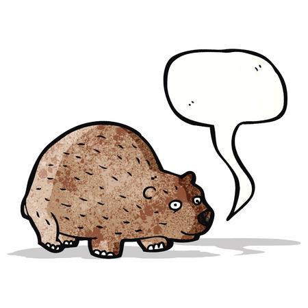 wombat: wombat de dibujos animados con el bocadillo