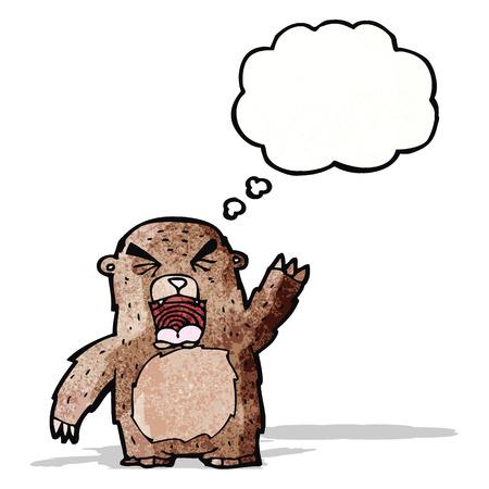 angry bear: dibujo animado del oso enojado