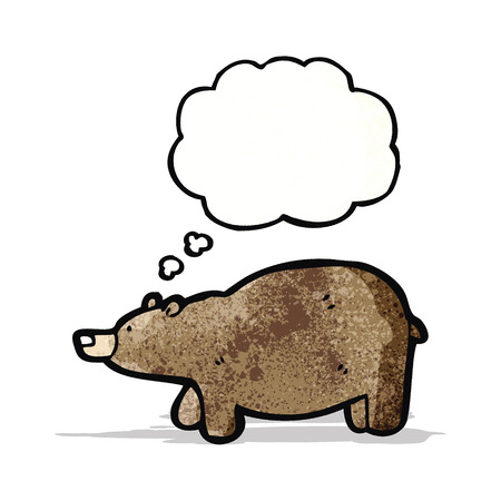 though: cartoon bear with thought bubble