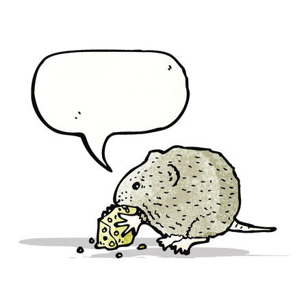 nibbling: mouse nibbling cheese Illustration