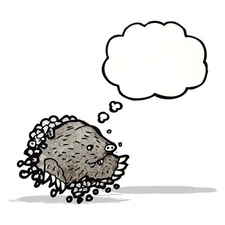 digging: cartoon digging mole Illustration