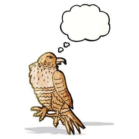 though: cartoon hawk Illustration