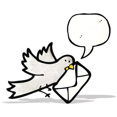 carrier pigeons: cartoon carrier; pigeon