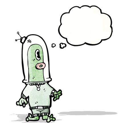 spaceman: cartoon alien spaceman Illustration