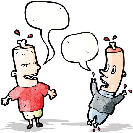 cartoon boneheads Illustration