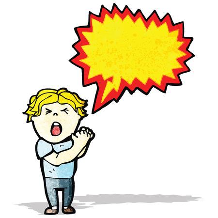 cartoon shouting man Vector