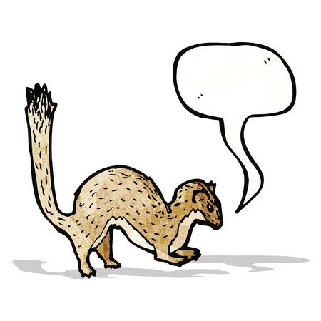stoat: cartoon weasel