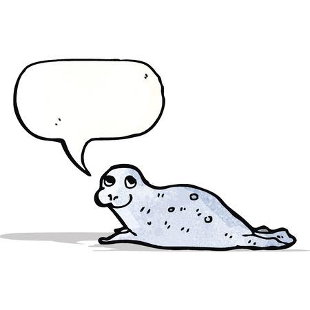 welpe: Cartoon Robbenbaby