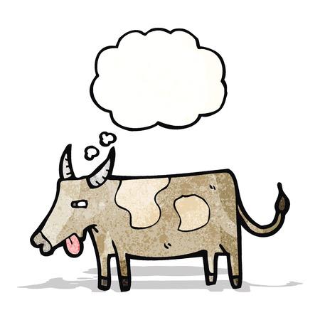 though: cartoon yak Illustration