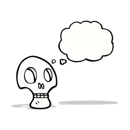 graffiti style skull with thought bubble Vector