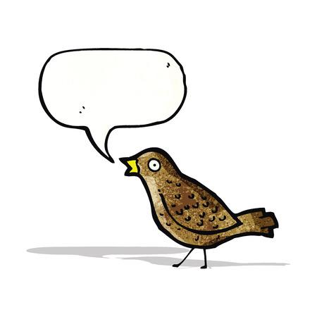 tweeting: cartoon tweeting bird
