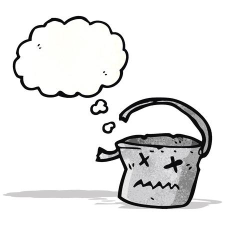 comic figur: verreckt Zeichentrickfigur