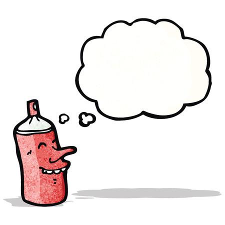 comic figur: Spraydose Zeichentrickfigur Illustration
