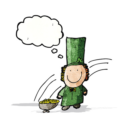 childs: childs drawing of a leprechaun
