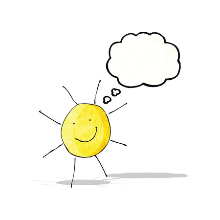child's drawing: childs drawing of sunny weather Illustration
