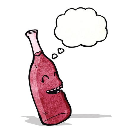 red wine bottle: botella de vino rojo con la burbuja del discurso