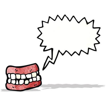 dientes caricatura: dientes de dibujos animados