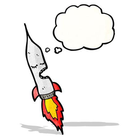 comic figur: Raketenzeichentrickfigur Illustration