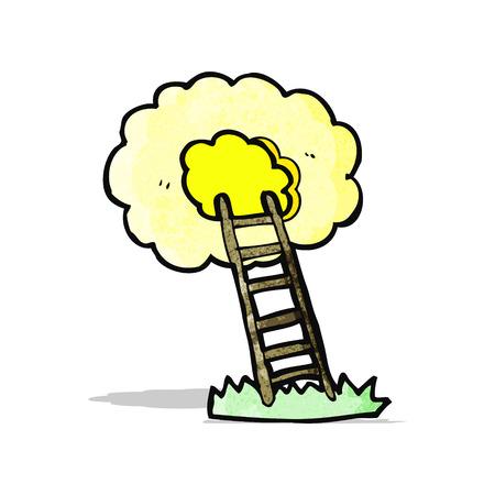 천국: cartoon ladder to heaven 일러스트