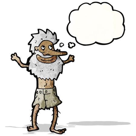 cartoon old hermit man Vector