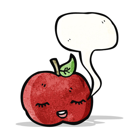 apple cartoon: cute singing apple cartoon