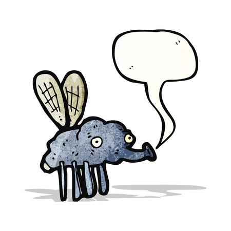 mosca caricatura: historieta bruto mosca Vectores