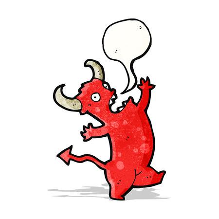 cartoon dancing devil Vector