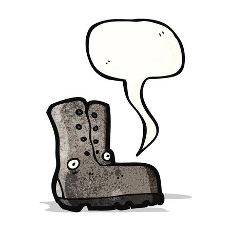comic figur: alte Boot-Zeichentrickfigur